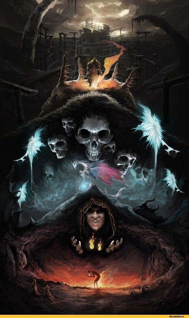 Dark-Souls-фэндомы-witch-of-izalith-Seath-the-Scaleless-3129537